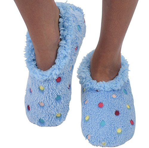 Mujeres Comfy Cozy Soft Bold And Beautiful Snoozies Ballerina Pantuflas Azul