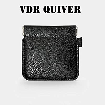Doowops VDR Quiver Plus Magic Tricks Magic Coin Purse Leather Magician Close-up Street Illusions Gimmick Prop Appear Vanish Magic (VDR Quiver Plus): Toys & Games