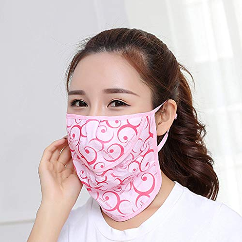 EKIMI Reusable Cotton Protective Face Shields - Breathable and Lightweight Comfortable - Anti-Fog/Dust-Proof/Splash-Proof/Anti-Spitting Isolation Anti-Pollution