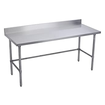 Amazoncom Elkay Foodservice Chefs Choice Work Table X OA - 4 foot stainless steel table