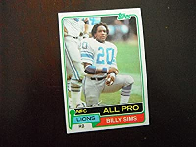 Billy Sims - Detroit Lions - Rookie - Oklahoma Sooners - 1981 Topps #100 Near Mint