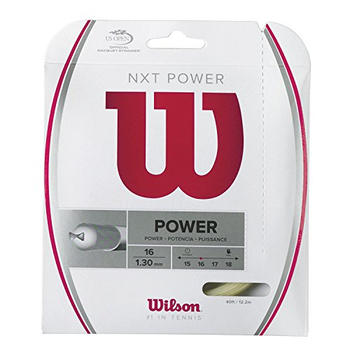 Wilson NXT Power Multifilament 40-Feet String, Natural, 16 - Set of 2 (Gut Natural Wilson)