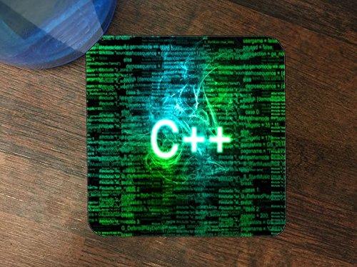 C++ Coder Silicone Drink Beverage Coaster 4 - Programming Coasters