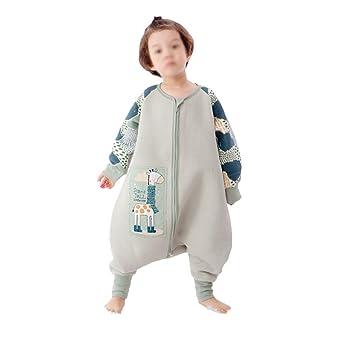 HAIMING-sleeping bag Saco De Dormir Pierna Dividida Mono De Bebe Pijamas De Bebe-Saco De Dormir Grande De Algodón Anti- Patada Edredón Infantil Grande: ...