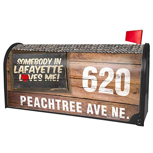 (NEONBLOND Custom Mailbox Cover Somebody in Lafayette Loves me,)