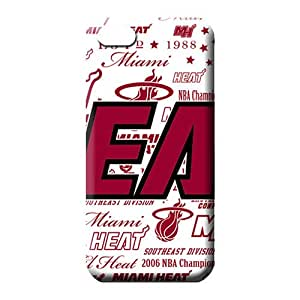 iphone 4 4s Shock Absorbing Plastic High Grade phone back shell miami heat nba basketball