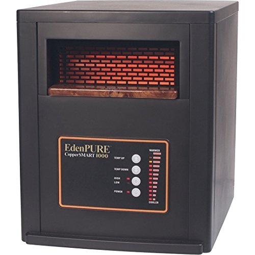 EdenPURE CopperSMART No Bulbs to have to Replace 1500-Watt Electric Portable Heater with Remote Control by Edenpure