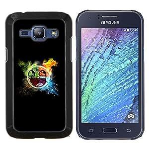 TECHCASE---Cubierta de la caja de protección para la piel dura ** Samsung Galaxy J1 J100 ** --Smiley impresionante targeta
