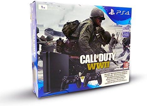 Sony PlayStation 4 + Dualshock 4 + Call of Duty WWII Negro 1000 GB ...
