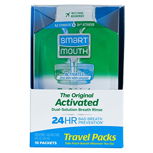 SmartMouth Mouthwash Travel Packets for 24 Hours of Fresh Breath Guaranteed, 12 Boxes, 10 packs each by SmartMouth