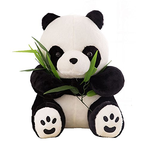 Sitting Panda Bear - MMTTAO Panda Bear Plush Toys 16 Inch Giant Huge Sitting Pandas Dolls Stuffed Animals Toy with Bamboo Soft Pillow Cushion for Kids Child Christmas Gift - 16