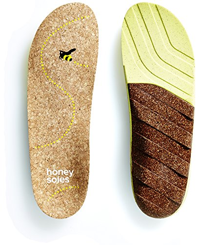 Honey Soles Natural Cork Shoe Insoles,Size E (Toe Honey)