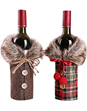 Christmas Wine BottleBest Gift Bags Christmas Hostess Table Decoration Xmas Gift for Home Party Decoration Decoration Durable Design