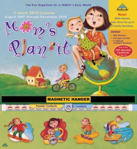 Wall Calendar Large 2010 - Mom's Plan-It -  2010 Magnetic Calendar