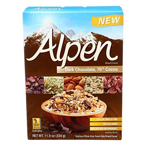 Alpen Dark Chocolate 70 Percent Cocoa Muesli Cereal, 11.8 Ounce -- 12 per case.