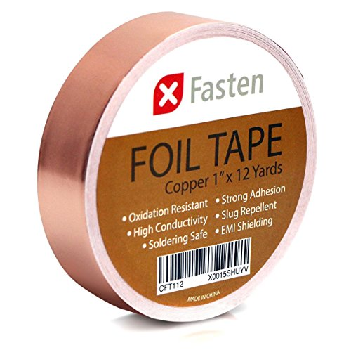XFasten Conductive Copper Tape, 1-Inch x 12-Yards, Slug Repellent, DIY material, Electronics Repair and Stained Glass - All Brands Glasses Review