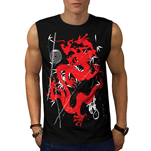 [Dragon Japan Fantasy Asia Final Men NEW M Sleeveless T-shirt | Wellcoda] (Chinese Dragon Parade Costume)