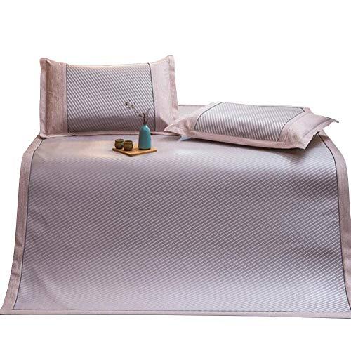 - ZHAOHUI Bamboo Summer Sleeping Mat Pad Mattress Bamboo Mat Breathable Straw Mat Single-Sided, 4 Styles, 2 Sizes (Color : A-1.2x2.0m)