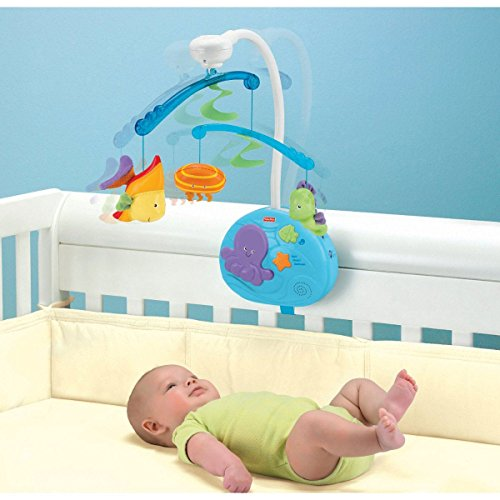 Fisher-Price Ocean Wonders Deep Blue Sea Mobile Fisher-Price Crib Mobiles Remote Control by Fisher-Price (Image #1)