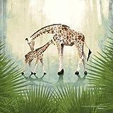 Giraffe Jungle Safari Children's Nursery Print