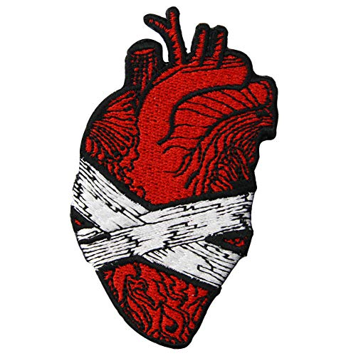 Save My Heart Patch Embroidered Applique Badge Iron On Sew On Emblem -