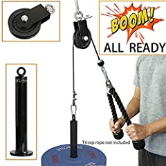 Lat Pulley System & Cable Machine Attachments for Building Perfect Home Gym!