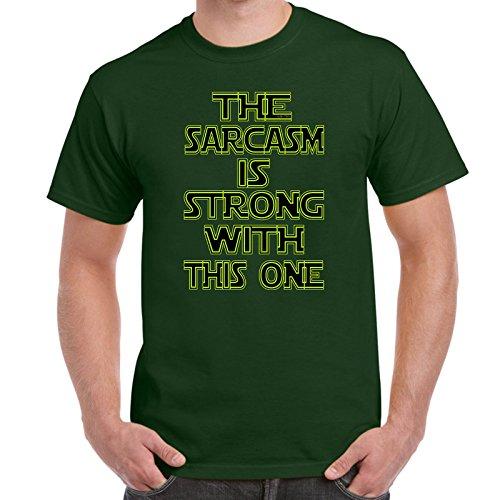 Star Wars Ideas (Mens Funny Printed T Shirts-Sarcasm is Strong Star Wars Inspired tshirt)