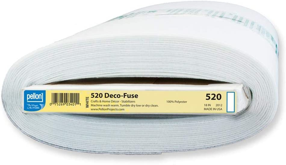 PCP Consumer Products Pellon Deco-Fuse Firm Interfacing White