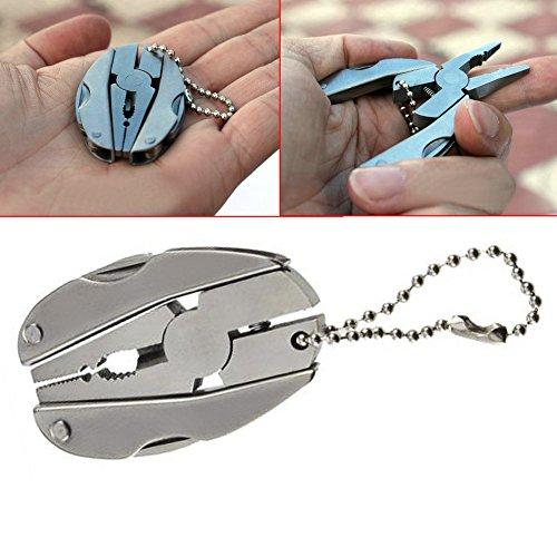 XY ZONE Outdoor Mini Multi-function Folding Pocket Tool Keychain Turtle Plier