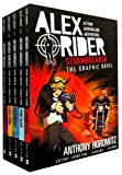 Alex Rider Graphic Novels Collection Anthony Horowitz 4 Books Set (Eagle Strike, Skeleton Key, Point Blanc, Stormbreaker)