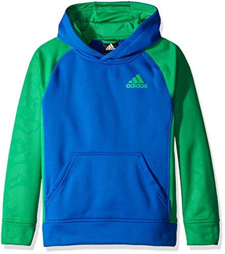 Collegiate Hoodie Sweatshirt - adidas Big Boys' Active Hoodie, Collegiate Royal/Green, Medium/10-12