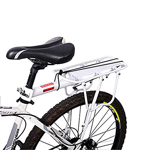 Enkrio Adjustable Bike Rear Cargo Rack Equipment Stand Footstock Bicycle Carrier Rack Bicycle Accessories Seat Post…