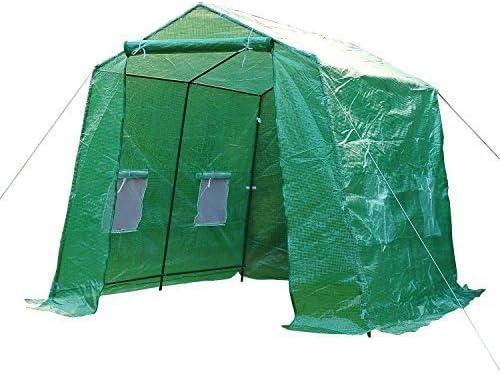 HOMCOM - Invernadero caseta 250x200x200 Acero y plastico Jardin terraza Cultivo Plantas: Amazon.es: Hogar