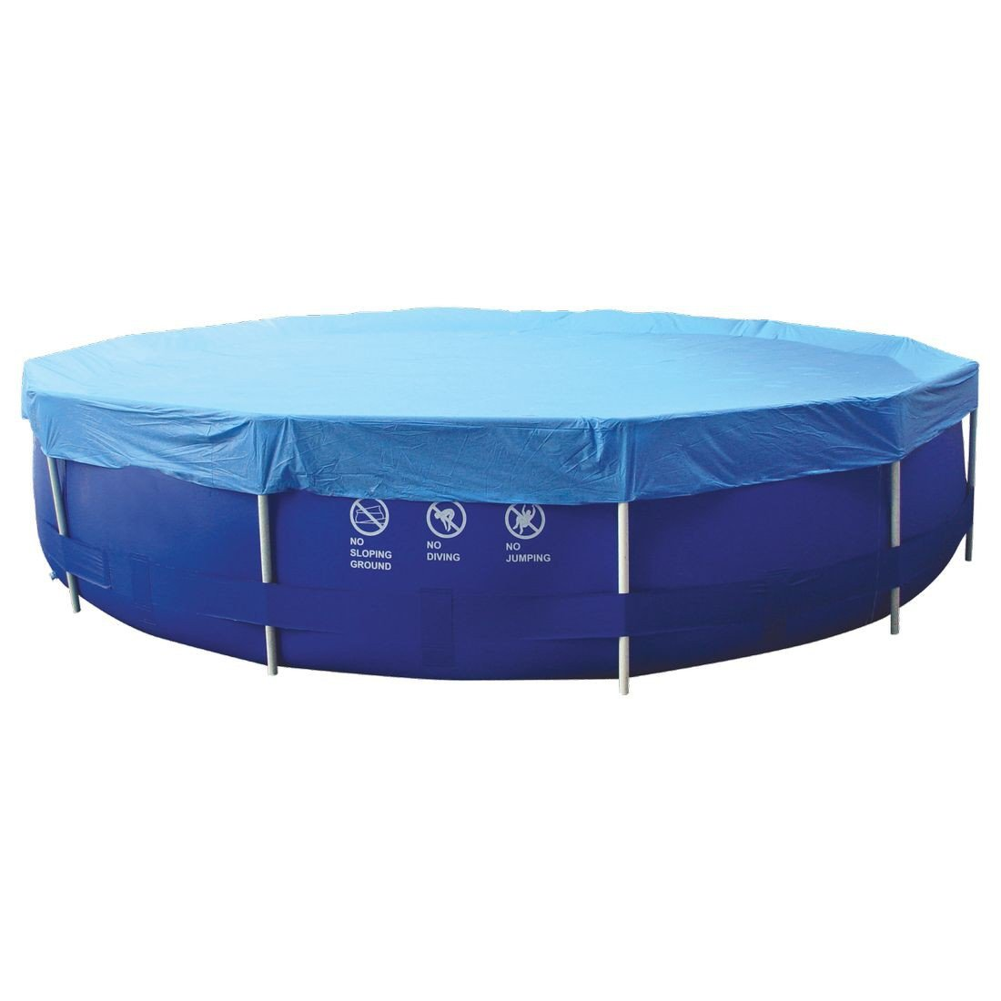 Jilong Pool-Abdeckung rund Abdeckplane für runde Frame Pool Gr. Ø 300 - 305 cm Stahlrohr Schwimmbecken Stahlrahmen Rundpool Schwimmbad Cover 6926799207250