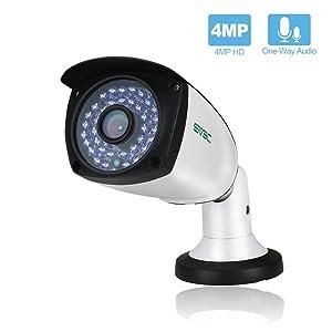 SV3C 4 Megapixels POE IP Camera Outdoor/Indoor, 75-115FT Night Light Video ONVIF H.265 Surveillance Home IP Security Camera, Waterproof Outdoor Motion Camera