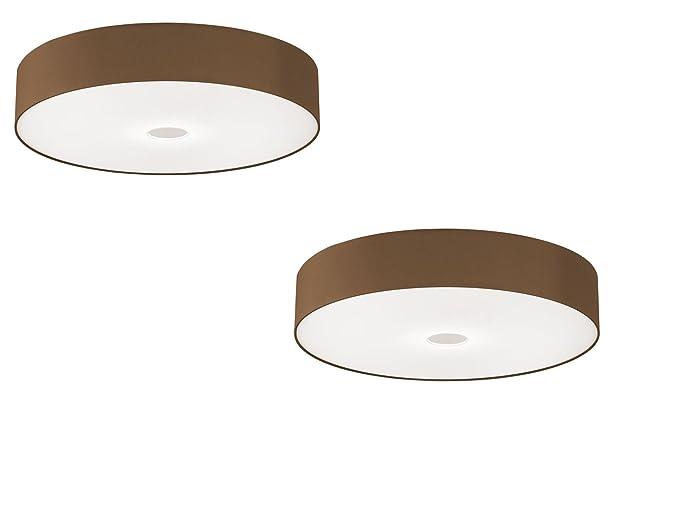 Plafoniere Wofi : Wofi leuchten paralume in tessuto cappuccino set di per led