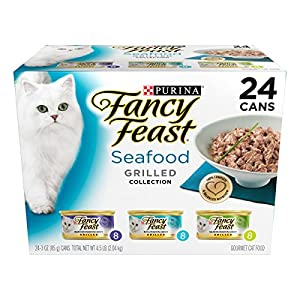 Purina Fancy Feast Grilled Gourmet Variety Pack Wet Cat Food (24) 3 oz. Cans
