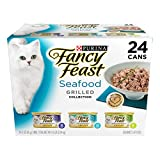 #8: Purina Fancy Feast Grilled Seafood Collection Wet Cat Food Variety Pack (24) 3 oz. Cans