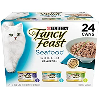 Purina Fancy Feast Grilled Seafood Collection Wet Cat Food Variety Pack (24) 3 oz. Cans