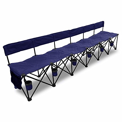 GoTEAM! Multi Seat Portable Folding Team Bench with Backrest