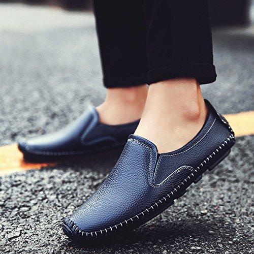 Ensembles Mode En Loisirs Paresseux De LYZGF Hommes Chaussures Cuir Affaires Jeunes Blue Pieds ZwfvI0TqHx