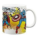 Zak Designs Marvel Comics 24 oz. Ceramic Coffee Mug, Hulk, Ironman, Captain America & Thor