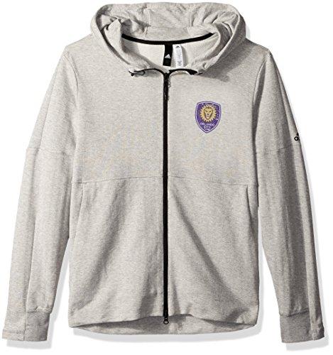 adidas MLS Orlando City FC Ultimate Worn French Terry Full Zip Jacket, Medium, Medium Grey