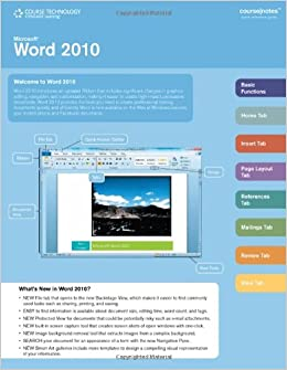 amazon microsoft office word 2010 web application coursenotes
