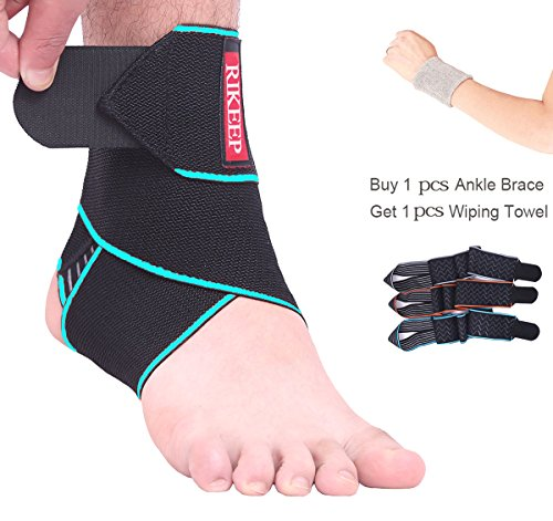 Ankle Support,Adjustable Ankle Brace Breathable Nylon Material Super Elastic and Comfortable One Size Fits all, Perfect for Sports, Protects Against Chronic Ankle Strain, Sprains Fatigue (blue) ()