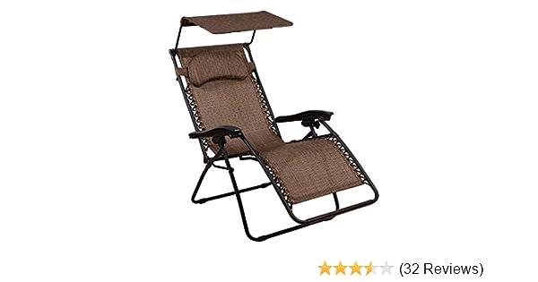 Amazon.com : SummerWinds Oversized Zero Gravity Chair With Canopy : Garden  U0026 Outdoor