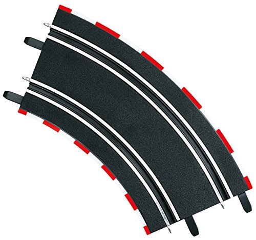 - Carrera 61617 2/45 Curve Track Section Part for Use with GO!!! and Digital 143 - Pack of 4