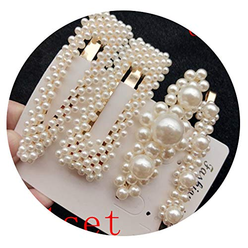 Gamma Shell Pants - 1 Set Solid Pearl Hair Clips Women Hair Barrette Fashion Hairpins Trendy Handmade Hair Accessory,Style 1