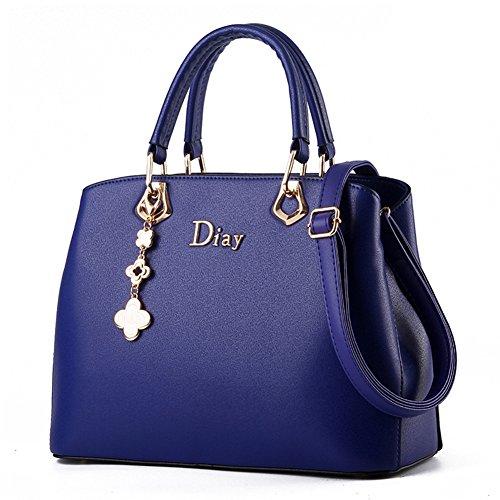Bolso de mano bolso bandolera de piel Para Mujer Chica Bolso De Mano Marca Fashion bolsos los estereotipos Azul