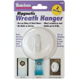 FPC F-901 Magnetic Wreath Hanger, 2.5-Inch, White